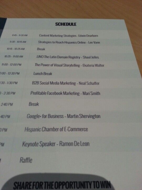 #latinoic #sony Conference schedule