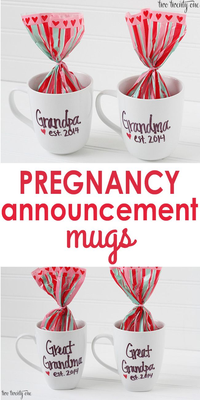 DIY Pregnancy Announcement Mugs!