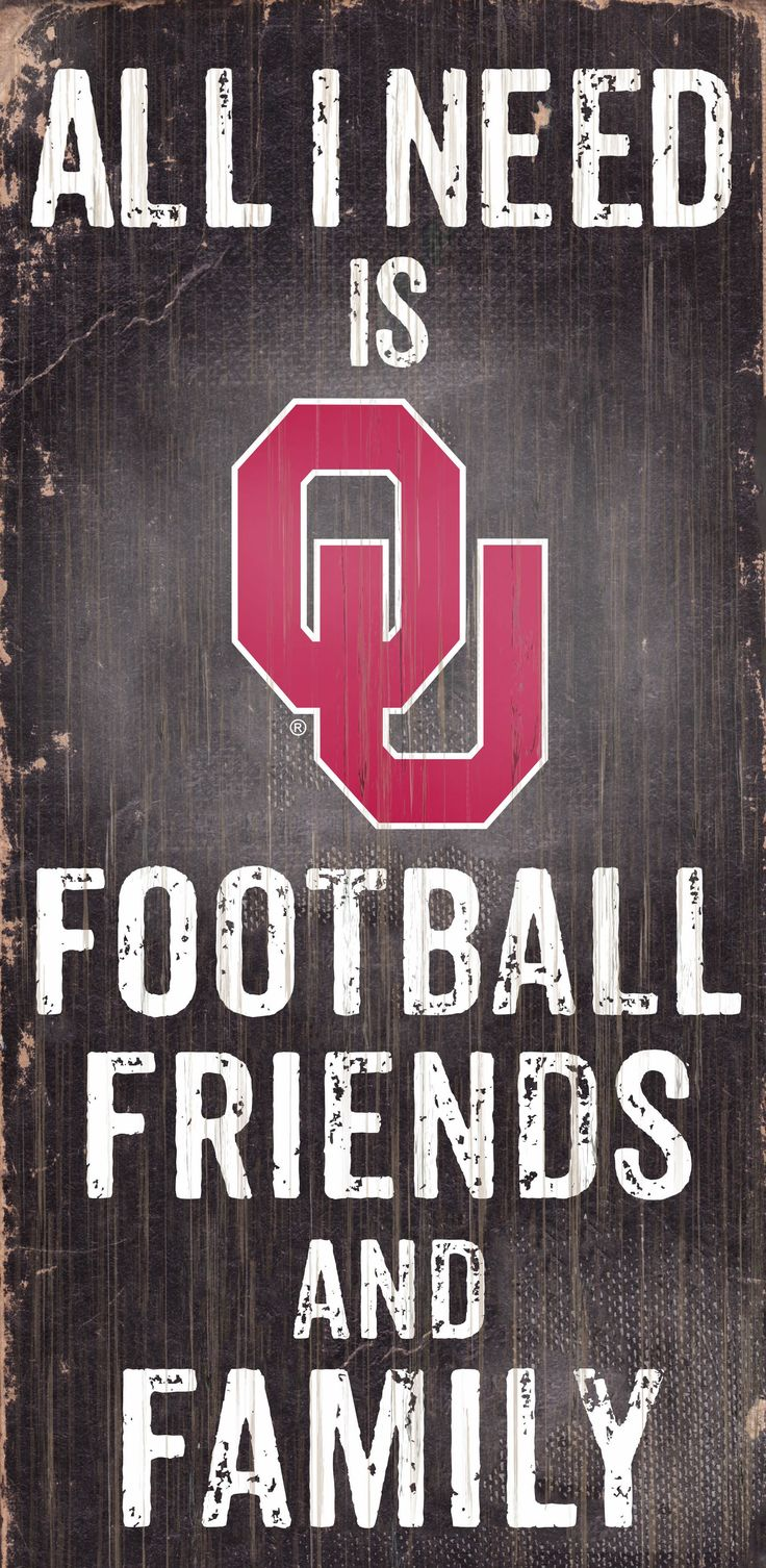"~Oklahoma Sooners Wood Sign - Football Friends and Family - 6""x12""~backorder"