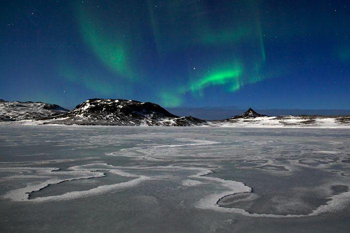 Polární záře, Baulárvallavant, Vatnaleið, Island