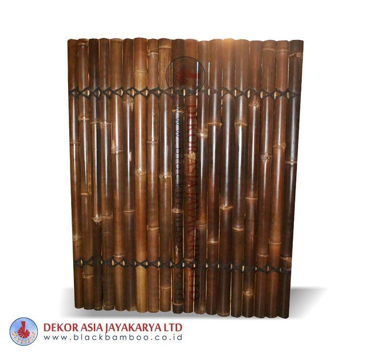black bamboo fence