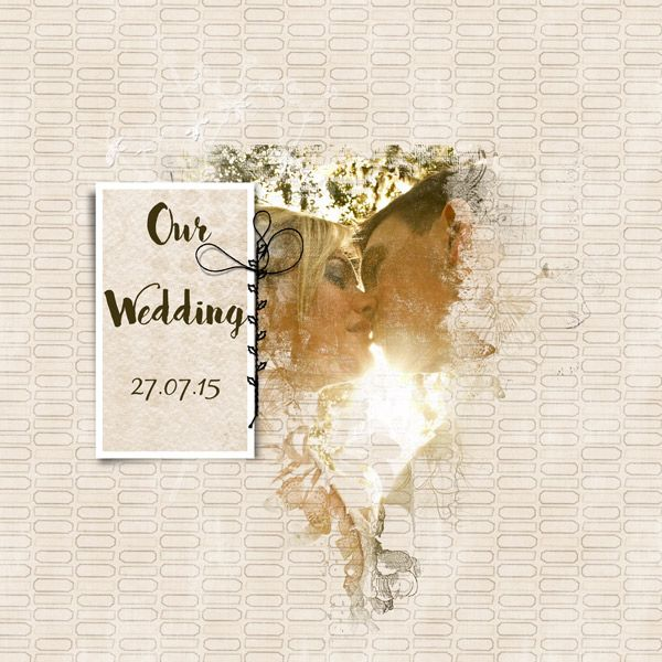 Cover page wedding photobook