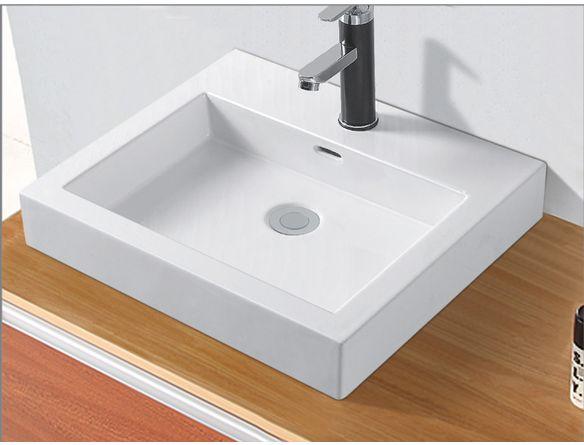 Contemporary 19 X 17 porcelain vessel sink - Vessel basins - Basins and vessel…