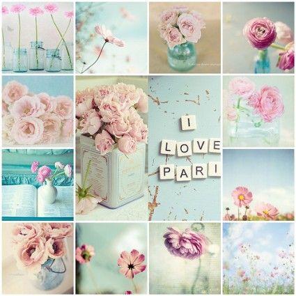 INSPIRATION BOARD | Pastel Color Palette: Pink + Green + Blue + Beige | The Knotty Bride™ Wedding Blog + Wedding Vendor Guide....love these colors!!