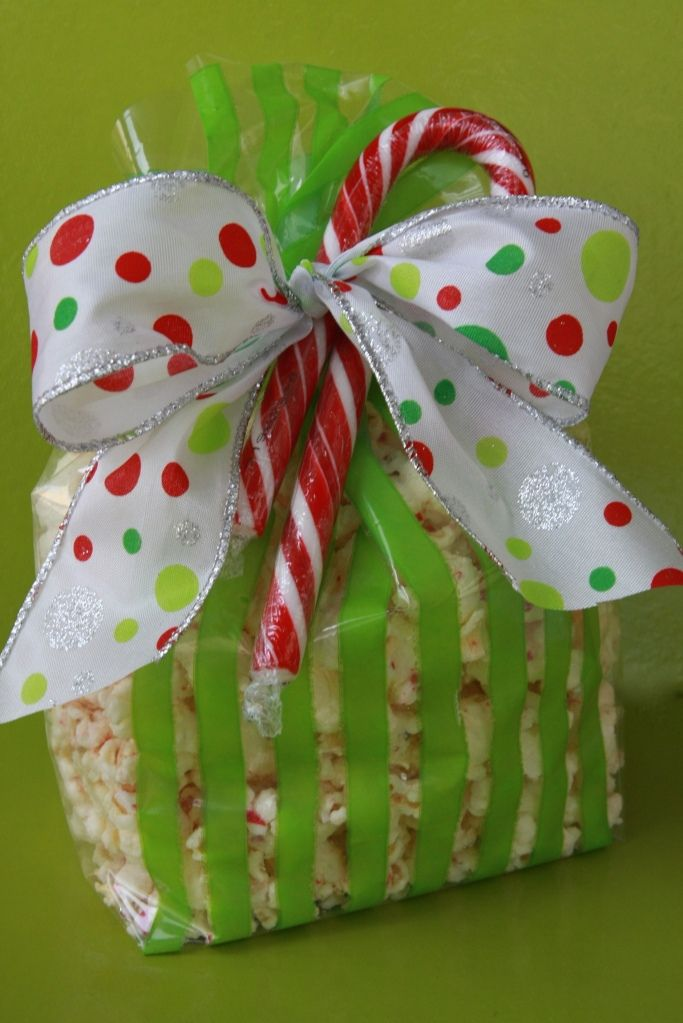 Peppermint white chocolate popcorn. Made this for the neighbors last year! SO GOOD!