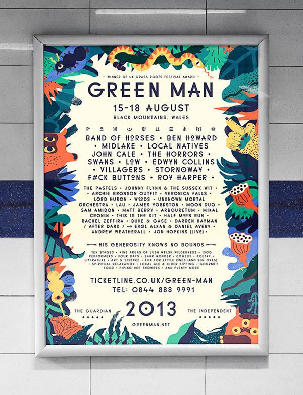 Festival / Green Man Festival poster