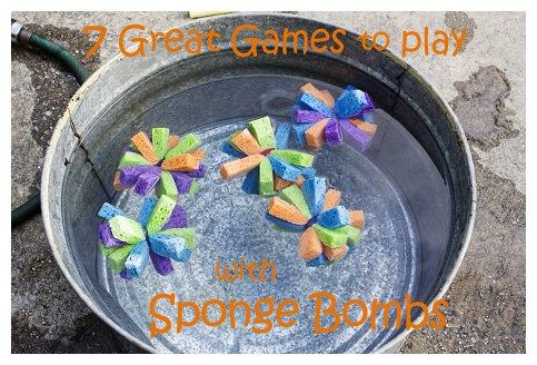 Sponge Bombs are my children's new favorite water play toy. Head over to MusingsSAHM.com for my guest post tutorial on making Sponge Bombs if you haven't made any yet. They are a grea…