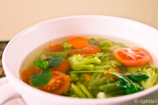 Овощной суп со стручковой фасолью