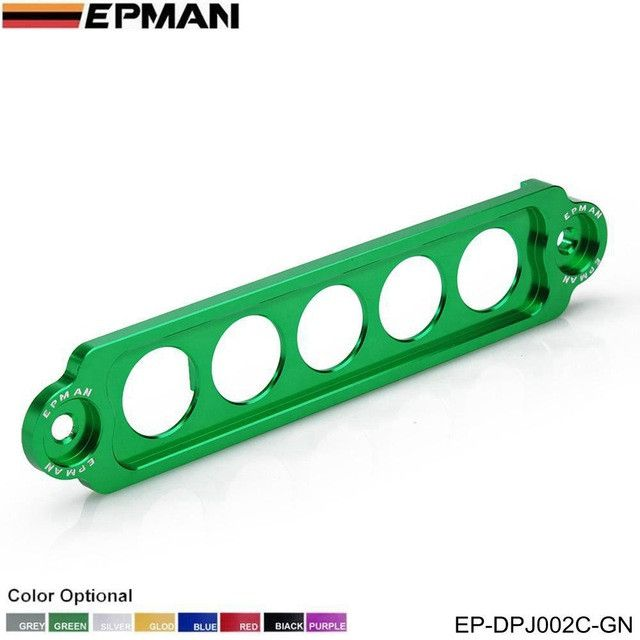 EPMAN RACING ALUMINUM BATTERY TIE DOWN FOR HONDA Civic SI 02-05 NEW GUNMETAL Replace for JDM STYLE EP-DPJ002C