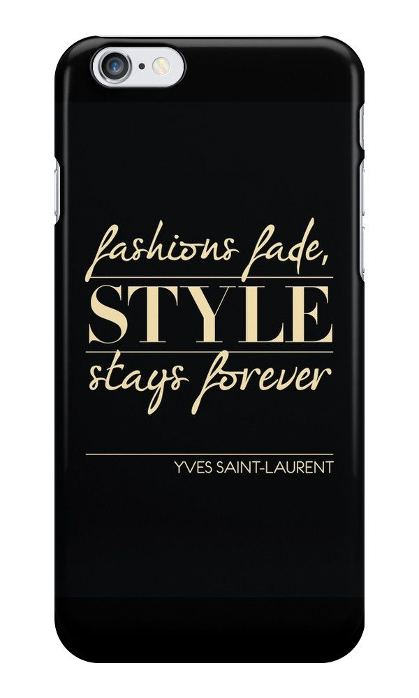 Yves Saint-Laurent fashion Quote by Didi Kasa