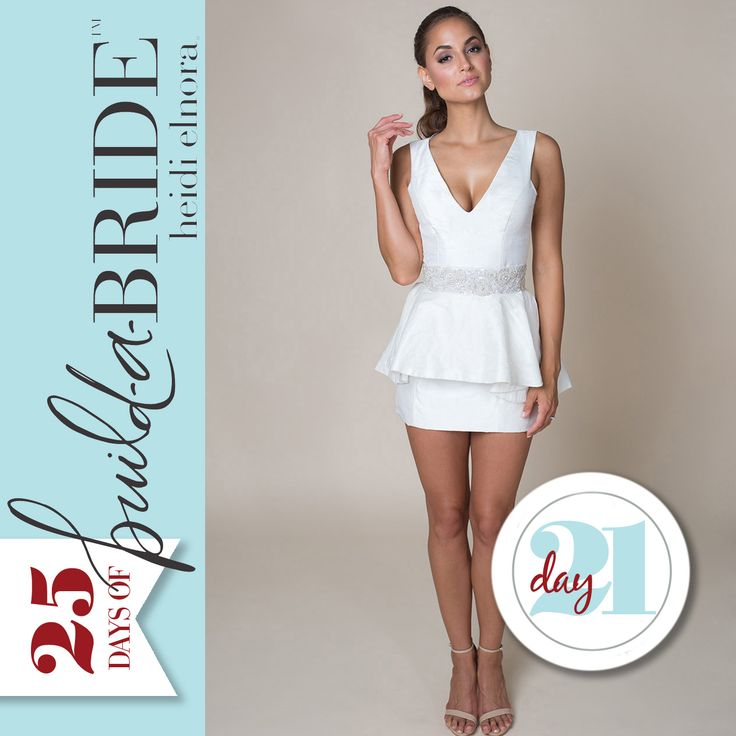 Add some sass to the Leona May mini with the Pretty Peplum and Rockin' Rhinestone Belt! There is still time to enter the 25 Days of build-a-bride Giveaway! Email info@heidielnora.com for an application.