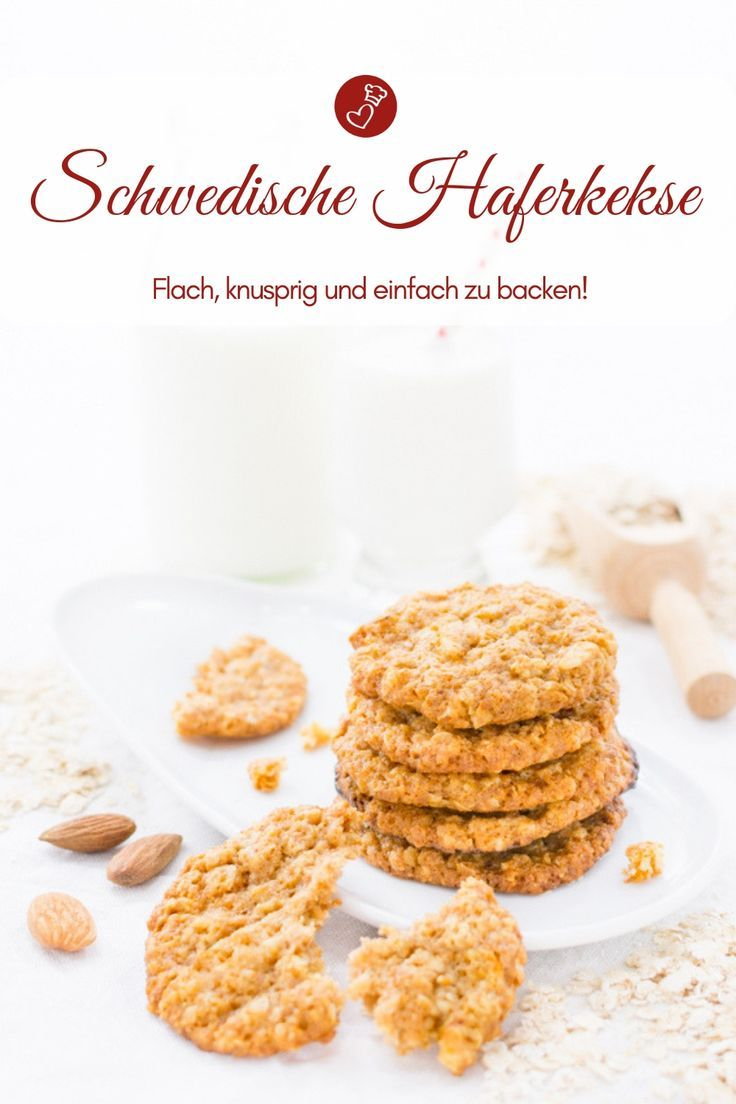 Biscuit recipes, Swedish recipes: recipe for Swedish oatmeal cookies, which are quite …   – Kekse, Plätzchen Rezepte | Cookies recipes