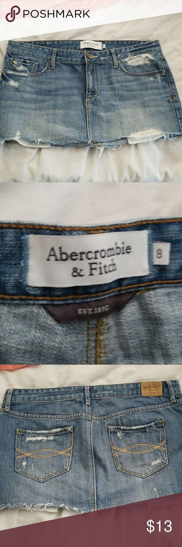 Abercrombie and Fitch  skirt Denim Abercrombie and Fitch  skirt in great condition Abercrombie & Fitch Skirts