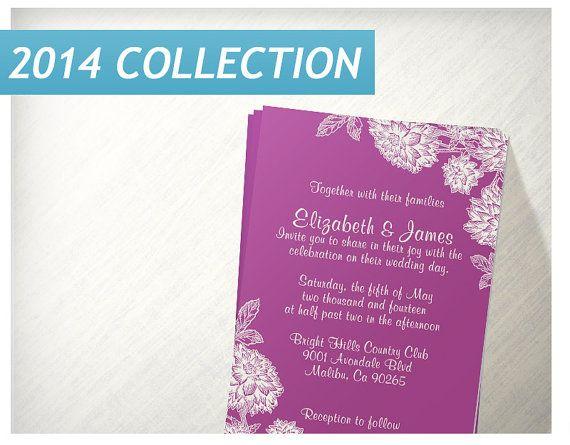 Elegant Fuchsia Wedding Invitations