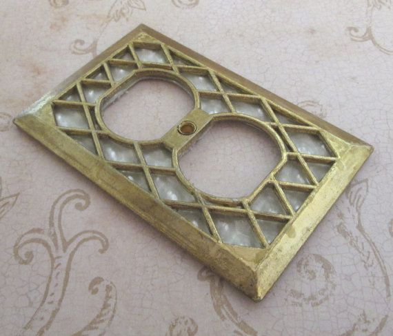 Outlet Cover Plate Vintage 1970s Decorative Switch