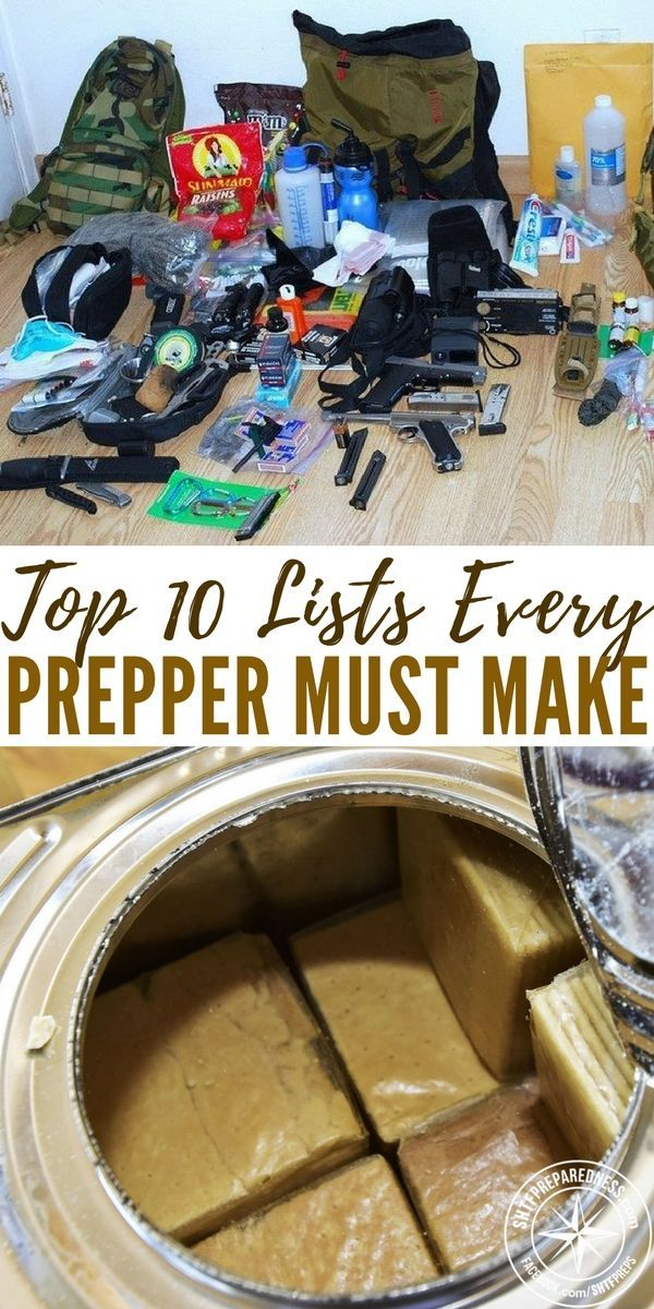 Top 10 Lists Every Prepper Must Make - This article offers a tremendous list of lists! The good part about this article is that you can design and modify your own lists. I will caution you that lists can also be your undoing. Sometimes the process of making lists can overtake your desire to do the job on the list.
