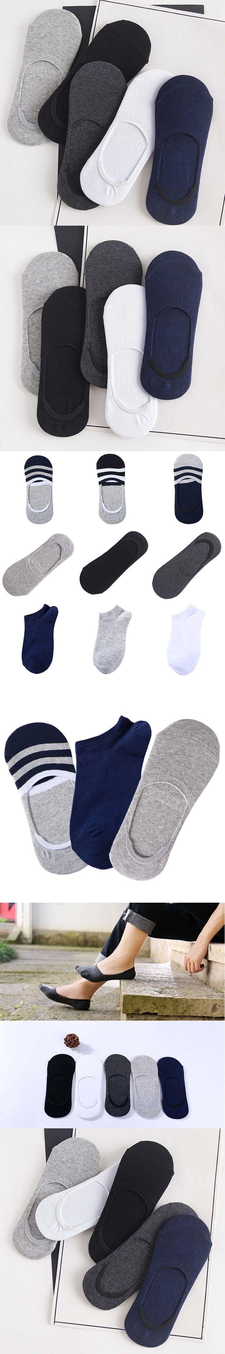 New Arrival Fashion Mens Short Socks Cotton Solid Color Socks Summer Casual Breathable Socks Invisible Socks