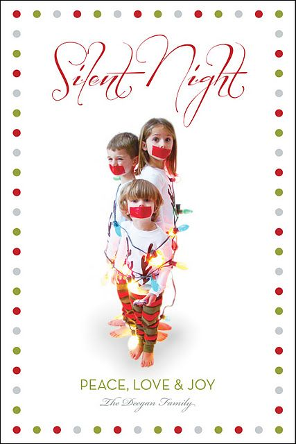 Super cute for future Christmas card!Holiday, Christmas Cards, Photos Ideas, Silent Night, Cards Ideas, Too Funny, Future Christmas, Photography, Xmas Cards