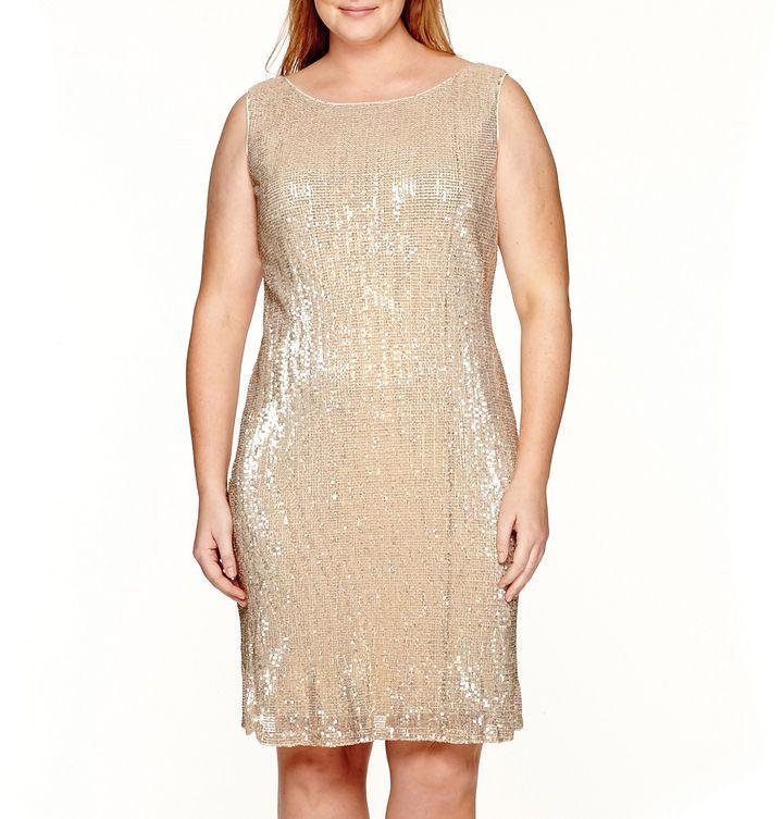 Studio 1 Sleeveless Sequin Sheath Dress - Plus