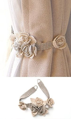 Tours Curtain Tie–free pattern at Pierrot yarns | REPINNED