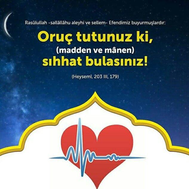 ❤Oruç tut.  #oruç #iftar #sahur #yemek #afiyet #huzur #sıhhat #sağlık #insan #islam #müslüman #ilmisuffa