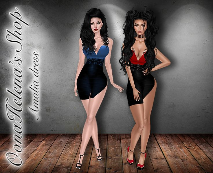 Amalia dress in OonaHelena's ShopBlue | Red http://www.imvu.com/shop/web_search.php?manufacturers_id=121132824
