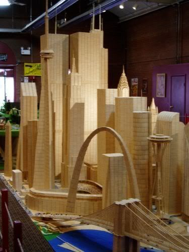 Amazing Toothpicks City Art by Stan Munro