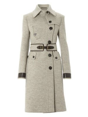 Madly in love with this coat: classy but interesting. Love thigh/knee length wool coats