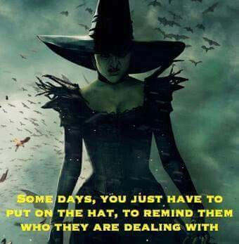 """""""Some days you just have to put on the hat to remind them who they are dealing with."""" Yup...and I don't melt lol!"""