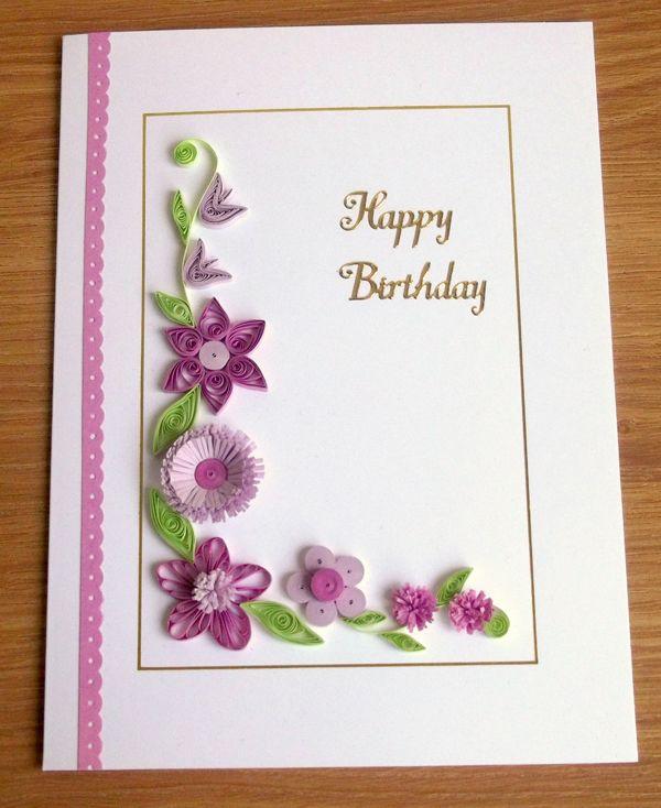 Квиллинг открытка на день рождения квиллинг, словами буду скучать