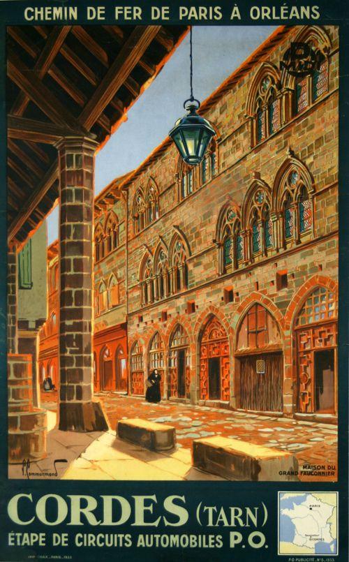 Cordes Tarn La Maison du Grand Fauconnier 1933 Commarmond Réfion : Midi-Pyrénées