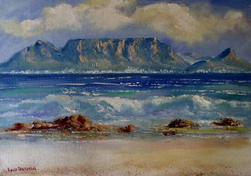 Buy TABLE MOUNTAIN (610mm x 420mm. Oil on canvas)for R860.00