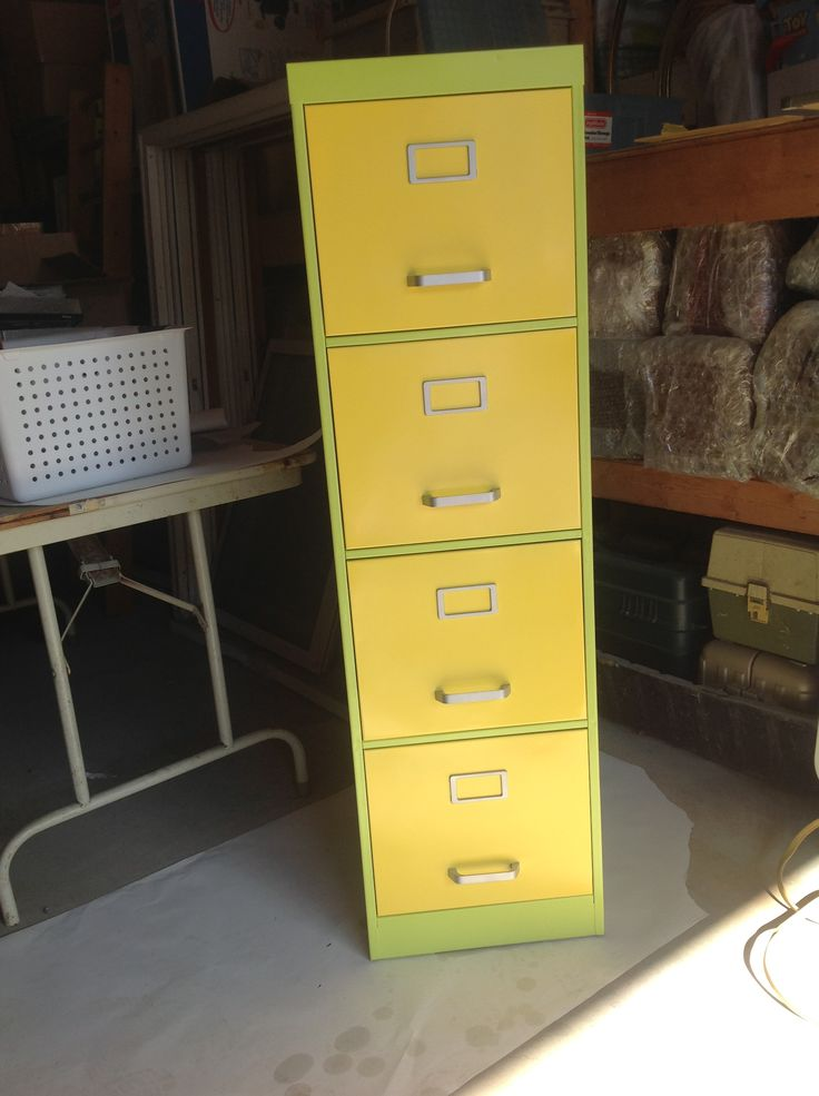 My refinished filing cabinet smart ideas for classroom Upcycled metal filing cabinet