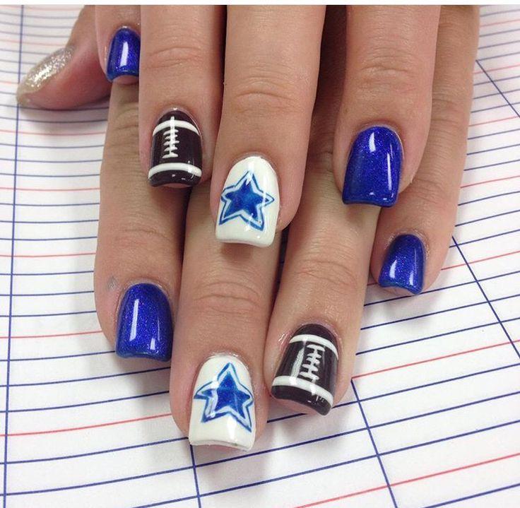 Best 25+ Dallas cowboys nails ideas on Pinterest   Navy ...