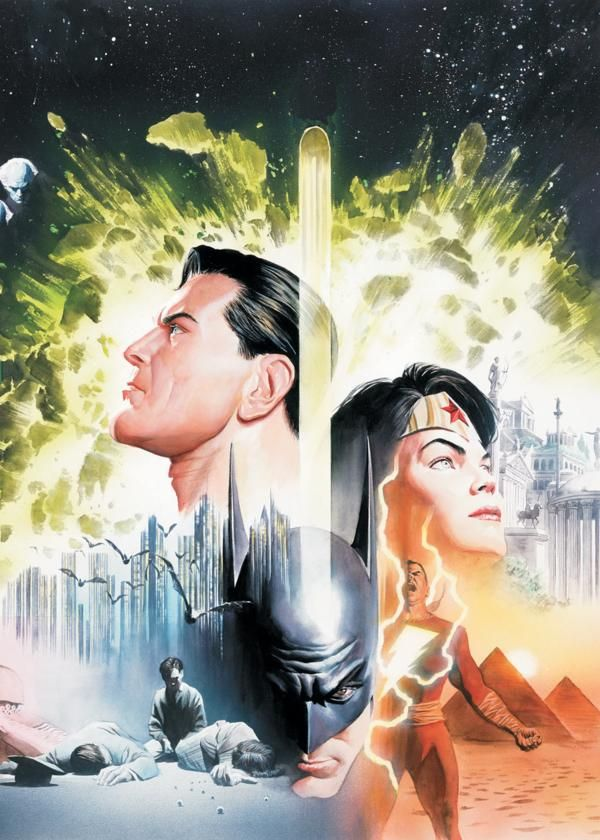 Alex Ross Batman, Superman, Captain Marvel, Wonder Woman