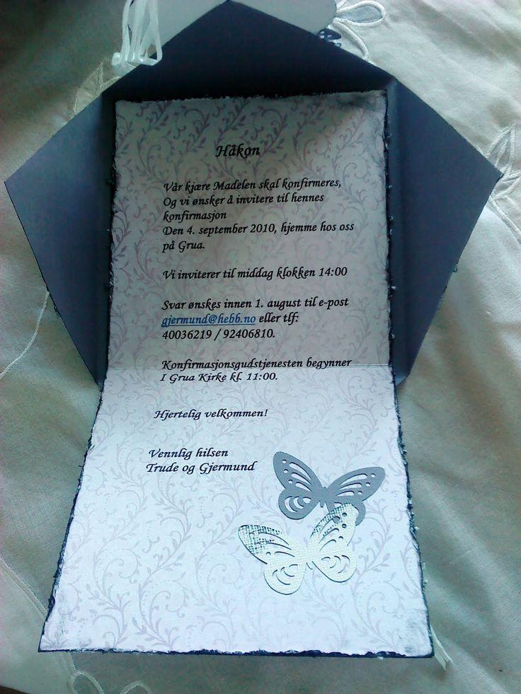 :): Invitasjoner til konfirmasjon