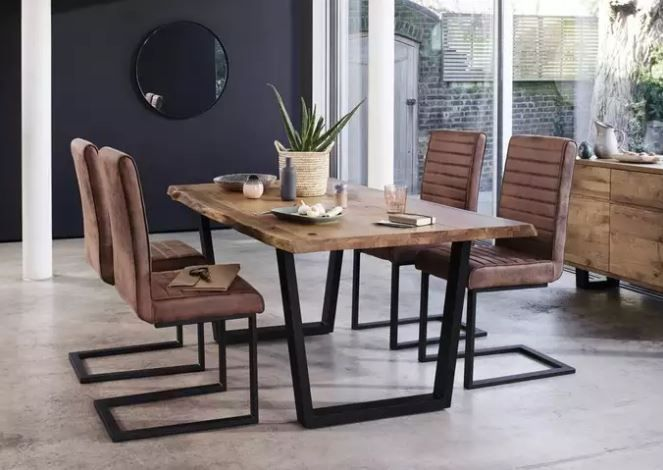 Kuldea And Furniture Village Form Retail Partnership For Online Marketplace Dining Table Chairs Metal Dining Table Metal Leg Dining Table