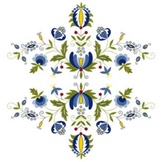Traditional pattern from Kaszuby region of Poland