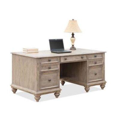 Riverside Furniture Coventry Two Tone Executive Desk U0026 Reviews | Wayfair