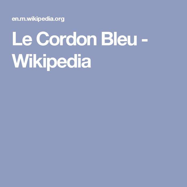 Le Cordon Bleu - Wikipedia