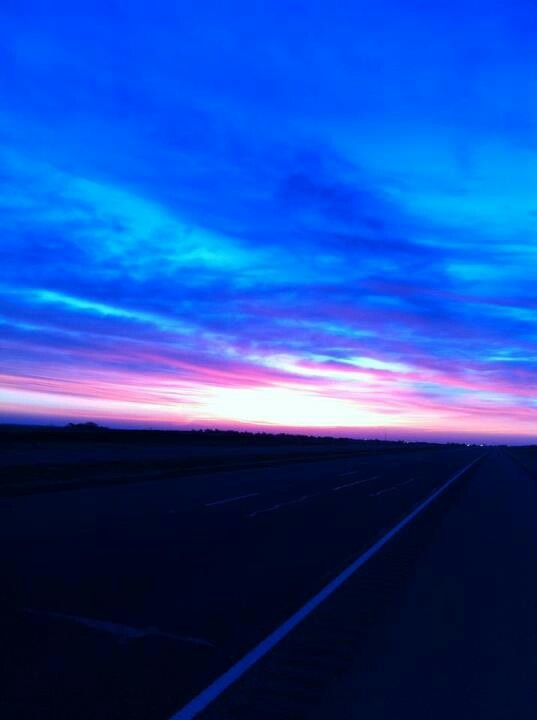 Sunrise, March 12, 2013, taken on Highway 287 between Claude and Clarendon...Texas Panhandle...God's country!...Amarillo by Morning...thank you George...and beautiful picture, Susan Cosby!Sunris