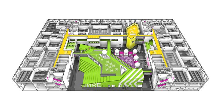 Image 15 of 15 from gallery of St John Bosco Art College  / BDP. Diagram