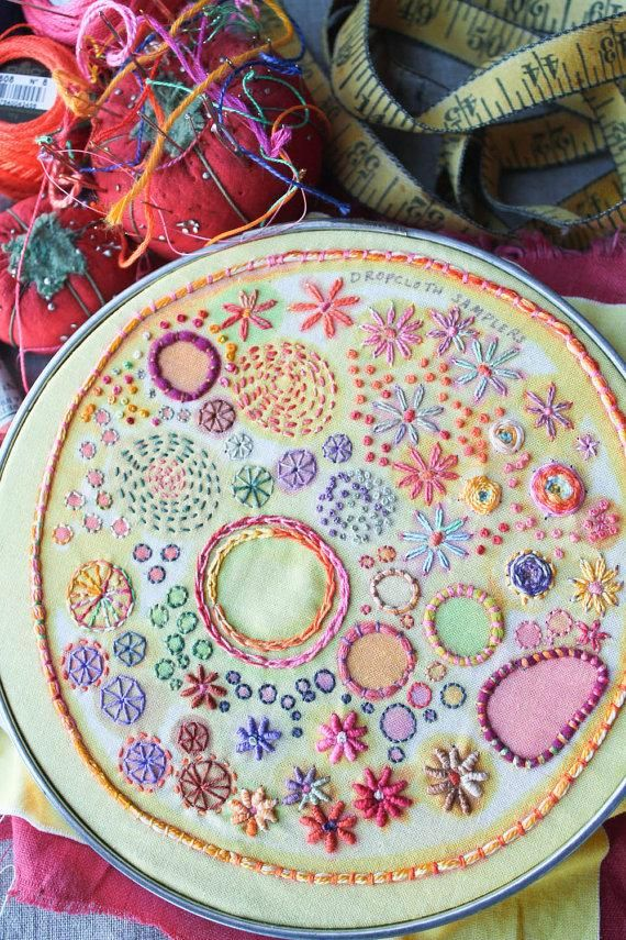 Brush up on your embroidery skills with a sampler kit from author and #Etsy…