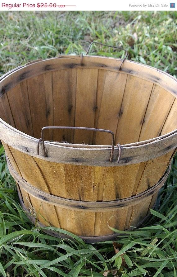 Items similar to Harvest Bushel Basket / Wood Slat Fruit Bushel Basket on Etsy & 86 best Uses for bushel baskets images on Pinterest   Bushel ... Aboutintivar.Com