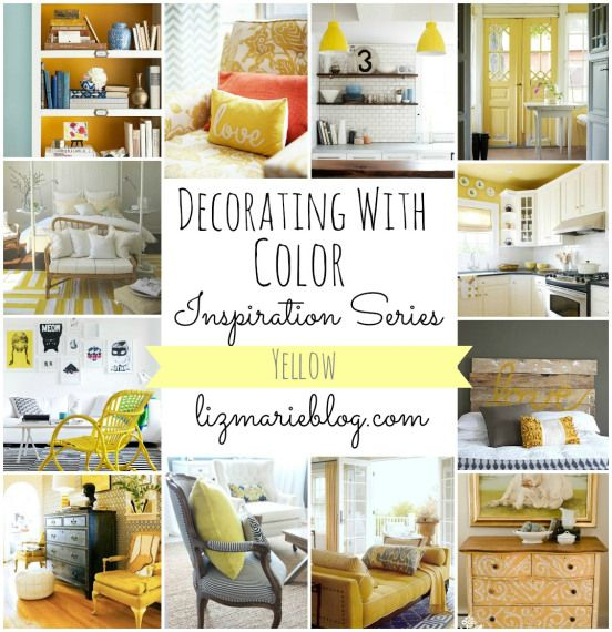 Decorating with Color inspiration series: YELLOW at lizmarieblog.com