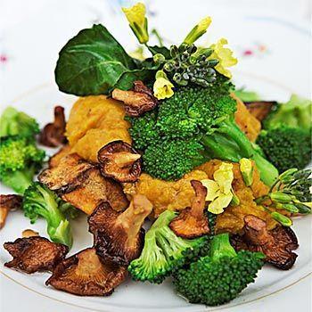 Recept pumpa med broccoli och kantarell