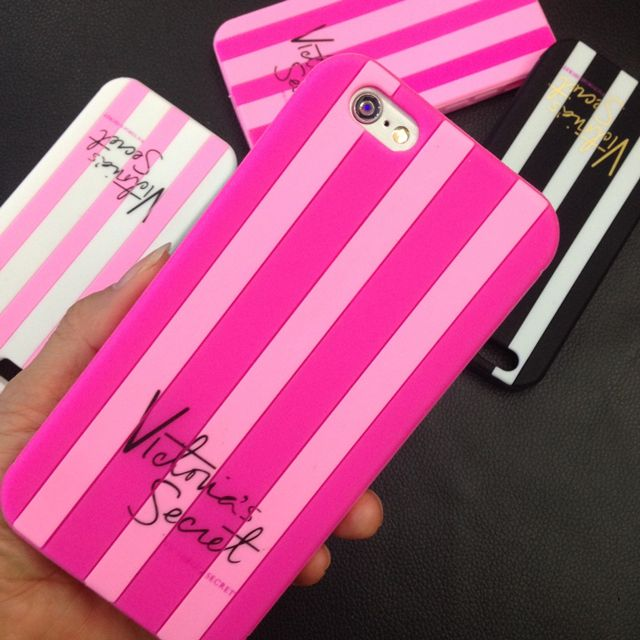 2016 Luxury Victoria Stripes Pink Phone Cases For iPhone 4 4s 5 5s Se 6 6s 6 Plus 7 7Plus Secret Soft Cover Silicone Girl Coque