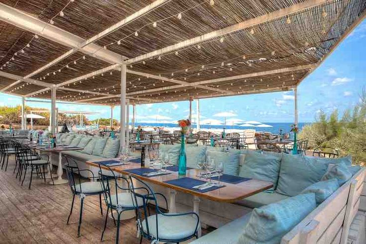 One of our favorite beaches in Ibiza-the restaurant.
