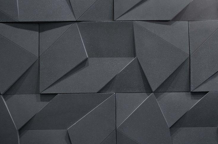 castelato - black origami wall