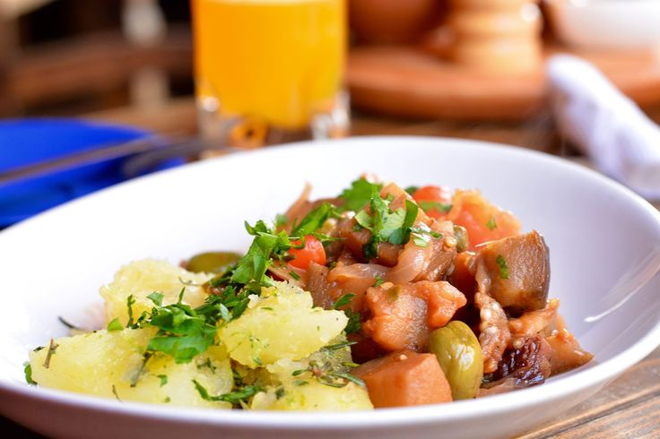 We found this Caponata con papas recipe during our journey through South America whilst travelling the world. Visit our travel blog for the recipe!